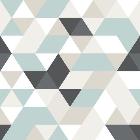 Papier peint Intissé Triangles Relief Géo 1005 x 52cm Multicolore
