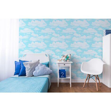 Papier peint support papier Nuages 1005 x 52cm Bleu