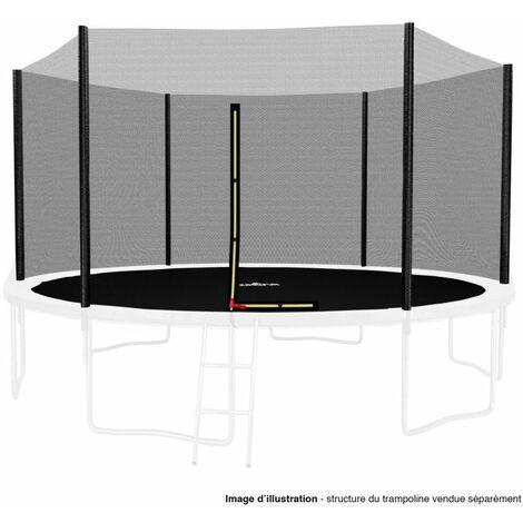 Filet de sécurité extérieur Universel pour trampoline 13FT ø400cm 6perches avec bouchons hauts de perches