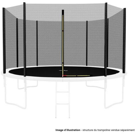 Filet de sécurité extérieur Universel pour trampoline 12FT ø366cm 8perches avec bouchons hauts de perches