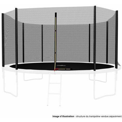 Filet de sécurité extérieur Universel pour trampoline 14FT ø427cm 8 perches avec bouchons hauts de perches