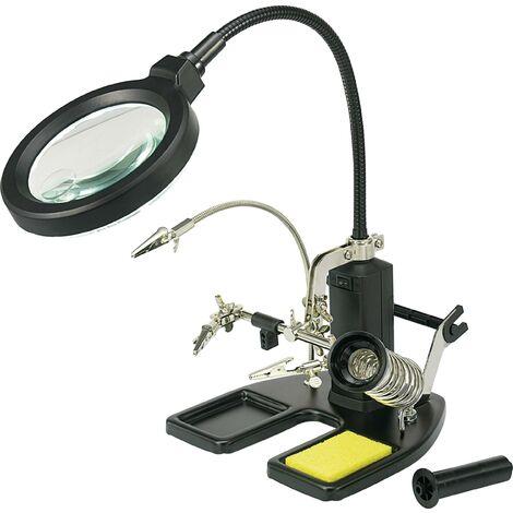Lampe-loupe avec troisième main 826054 Toolcraft 826054 C58731