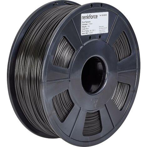 Filament renkforce PLA, 1,75 mm, noir, 1 kg S562101