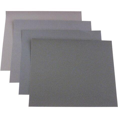 Set de feuilles abrasives pour ponçage manuel kwb 812316 Grain 40, 100, 150, 180 (L x l) 280 mm x 230 mm 50 pc(s) C95298