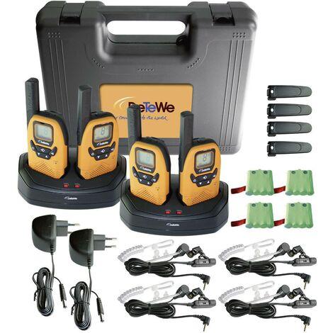 Talkie-walkie PMR DeTeWe Outdoor 8000 Quad Case 208048 jeu de 4 R27328