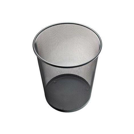 Panier à papier Helit filet rond 26,5 x 28 cm (Ø x H) 15 L sans bord de poignée métal noir S319281