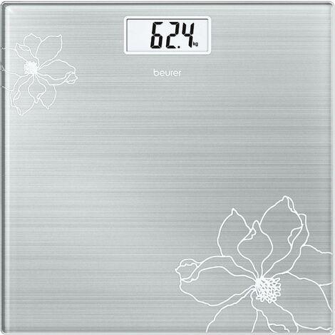 Pèse-personne numérique Beurer GS 10 756.30 Plage de pesée (max.): 180 kg acier inoxydable 1 pc(s) Y06315