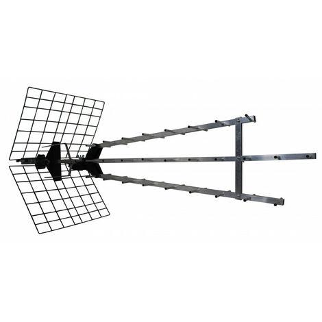 Antenne trinappe amplifiée 57 dB pour réception difficile