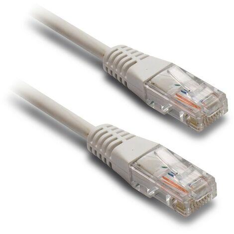Câble Ethernet RJ45 CAT 5 mâle/mâle droit - blindage UTP 20 m