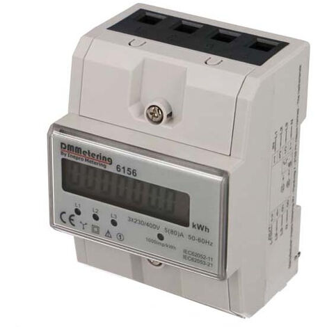 Compteur Electrique Triphasé 80A
