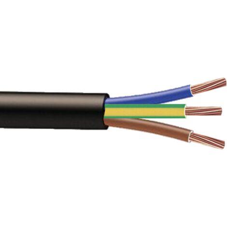 Cable RO2V 3G10mm² à la coupe (minimum 10m)