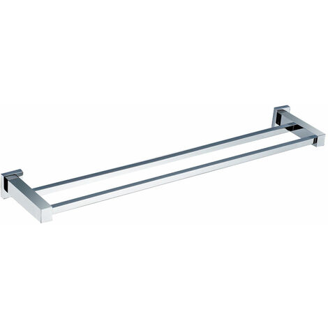 Square Double Towel Bar Rail Holder