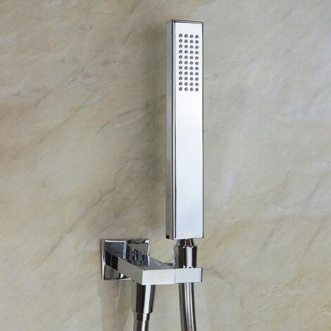 Penderal Rectangular Shower Handset Kit With 1.5m Hose & Adjustable Bracket