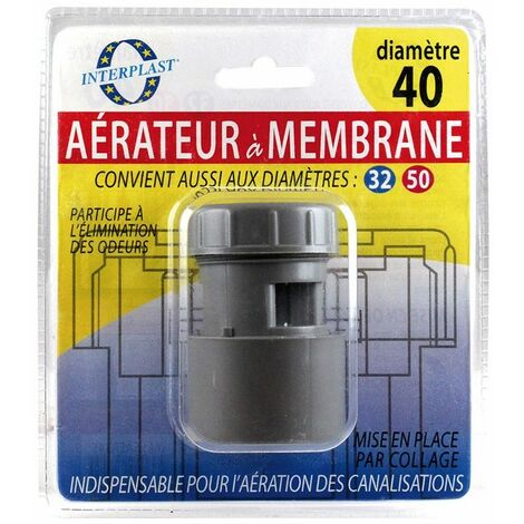 Aérateur à membrane Ø32-40-50 - INTERPLAST