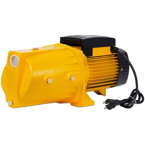 "AgoraDirect - Garden Water Pump 1100W, 5.58m3/h, Cast Iron, Max Depth 50m, 1,2"", Electric Cable 85cm, 2850RPM, IPX4, Electric Pump, Brass Impeller, Self Priming Pump, 220V Electric Jet Pump"