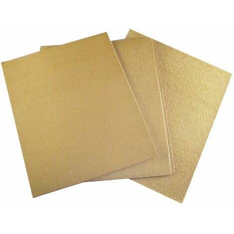 Lot 15 feuilles papier silex (5 fin-5 moyen - 5 gros), NESPOLI