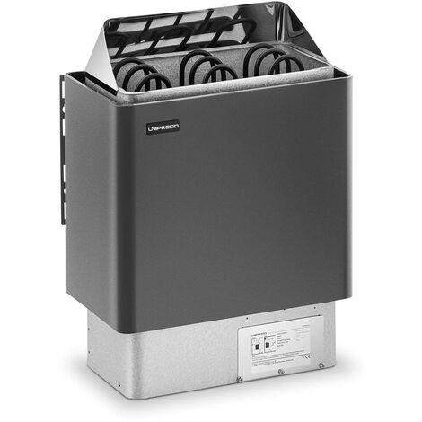 Uniprodo Poêle Radiateur Électrique Chauffage Pour Sauna Cabines 3 - 6 m³