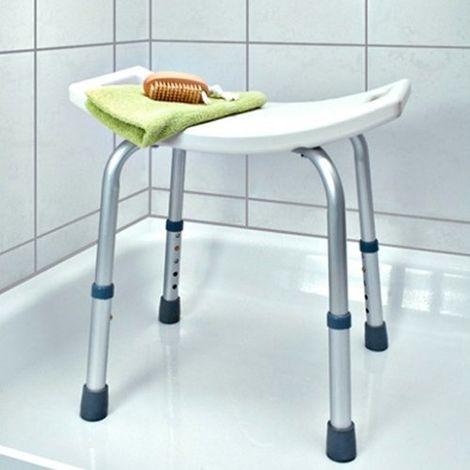 Sgabello Doccia Bagno Per Anziani Regolabile Sedia Disabili Sedile Bambini Bagno