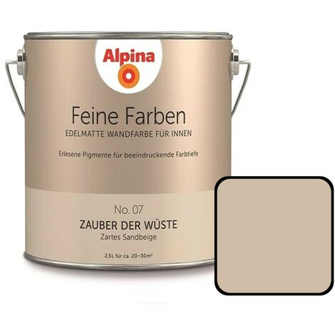 Alpina Feine Farben - Edelmatte Wandfarbe für Innen, alle 32 Farbtöne, 2,5L Dose