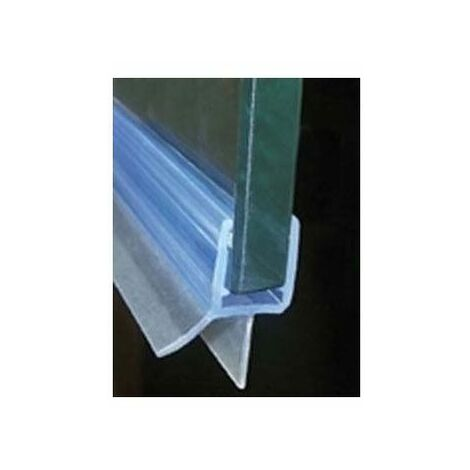 Joint d'étanchéité bi-dureté translucide rejet d'eau - Pour verre d'épaisseur : 6 à 8 mm - Longueur : 1000 mm - ADLER
