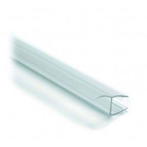 Joint d'étancheité bi-dureté translucide - Pour verre d'épaisseur : 6 à 8 mm - Version : Lèvre déportée - Longueur : 2000 mm - ADLER - Vendu à l'unité