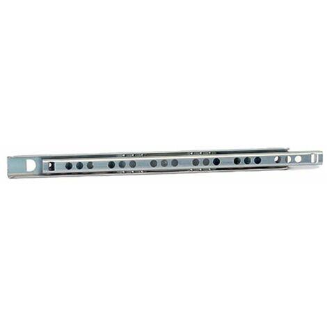 Coulisse à billes hauteur 17 - indaux - A2 : 96 mm - B : 246 mm - Longueur : 279 mm - Pour tiroir de longueur : 420 à 460 mm - PS : 95 mm - RC : 277 mm - INDAUX - Charge : 10 kg