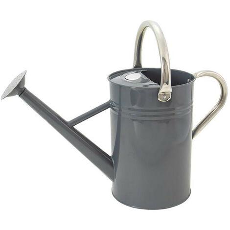 Kent & Stowe K/S34884 Metal Watering Can Cool Grey 4.5 litre