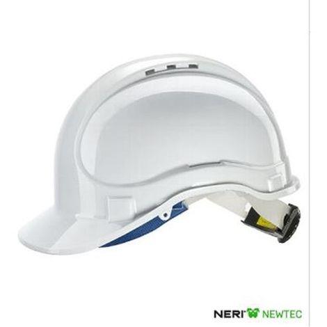 Elmetto di protezione in ABS bianco con cinturino sottogola Newtec 131072
