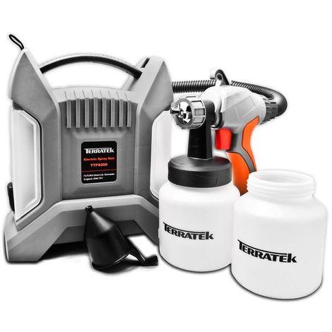 Terratek Paint Sprayer, 650W DIY Electric Spray Gun with 3 Spray Patterns, 2 x 800ml Paint Cups, HVLP Hand Held Spray Gun System, Fence Sprayer, Adjustable Valve, Painting, Varnishing, Lacquering