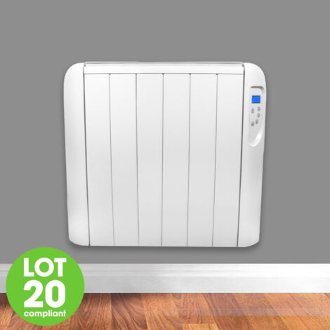 FUTURA Eco Panel Heater 24 Hour 7 Day Timer 1500W Wall Mounted Lot 20 Low Energy Electric Heater