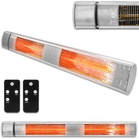 Futura 2500W Patio Heater Wall Mounted Electric Infrared Outdoor Garden Heater, Bathroom Heater Remote Control