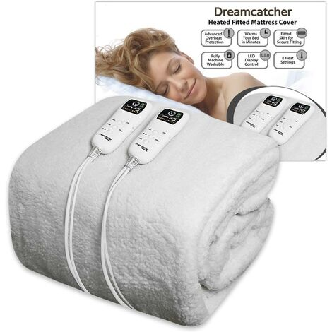 Dreamcatcher King Size Electric Blanket Luxury Fleece, Fully Fitted Electric Heated Blanket 203 x 152cm