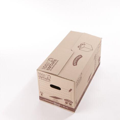 Carton de déménagement fermeture automatique 20 60 x 30 x 30 54 l