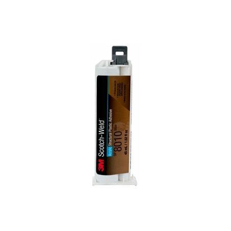 Adesivo bicomponente acrilico 3M DP8010 Blu cartuccia da 45 ml per plastiche a bassa energia superficiale (PE, PP,TEFLON defluorizzato)