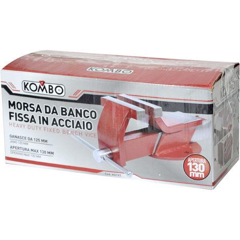 MORSA DA BANCO FISSA IN ACCIAIO APERTURA MAX GANASCE 130mm