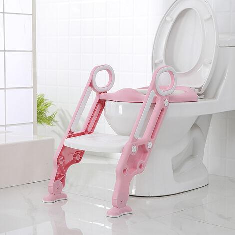 WYCTIN®Siège de Toilette Enfant Bébé Marche pliable ROSE