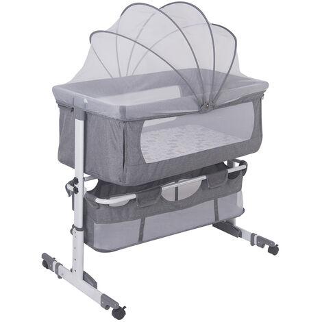 WYCTIN®Berceau cododo, Lit cododo inclinable berceau bébé GRIS 92*58*70-87cm
