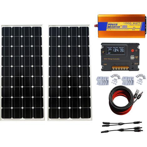 200W 2pcs 100W 12V SOLAR PANEL off grid & 20A CMG solar charging controller