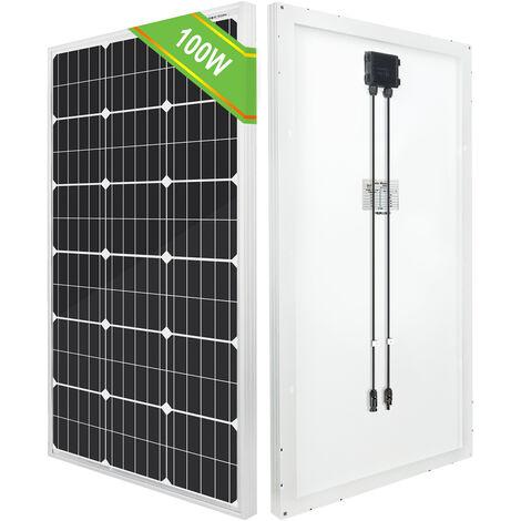 100Watt 12V Mono Solar Panel +Cable Battery Charger Power Home Caravan Motorhome
