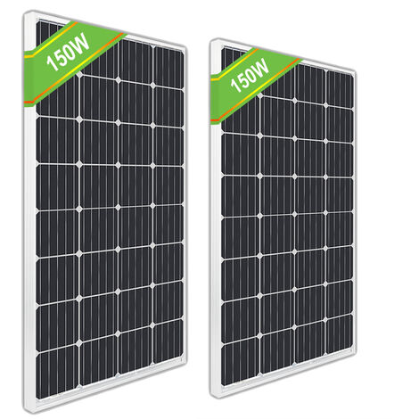 300W 2*150W RV Mono Solar Panel off Grid for Home Power Charge Camp Boat Caravan