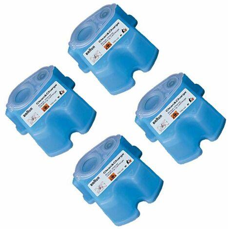 Pack de 4 Recharges de liquide nettoyant (321189-57807) (81387055) Rasoir, tondeuse BRAUN