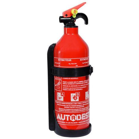 Extincteur 1 kg à poudre abc classes de feux - AUTOBEST