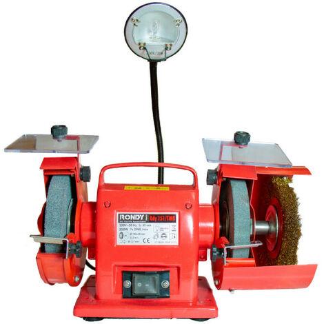 Touret à meuler 150 mm avec brosse et éclairage - RONDY