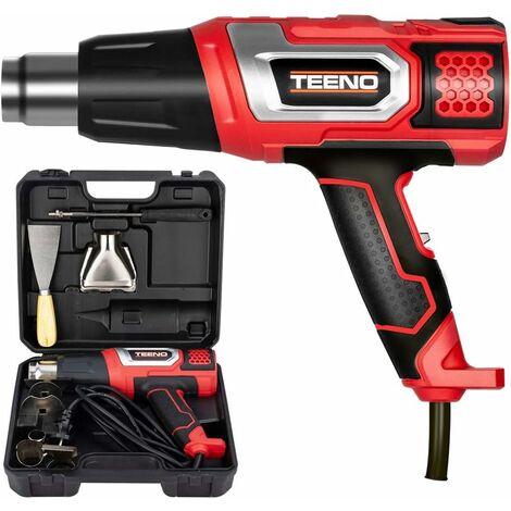 Décapeur thermique 2000W Pistolet à Air Chaud coffret avec 8 accessoires TEENO