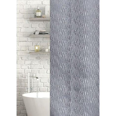 Waterfall Jacquard Polyester Shower Curtain