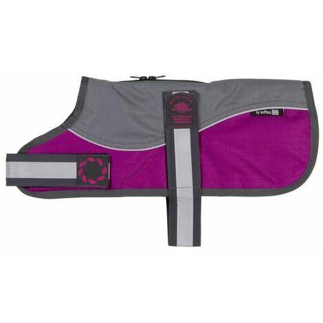 "Outhwaite Refl Grey/Raspberry Padded Harness Coat w/o collar 18"" (46cm) x 1 (262210)"