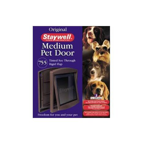 Staywell Dog Door and Lock 755 Brown x 1 (39058)