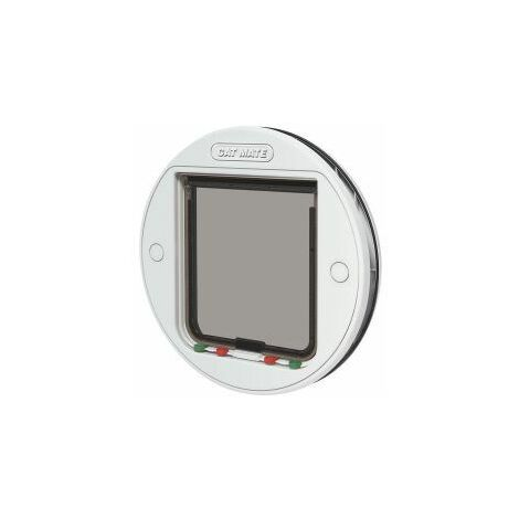 Large Glass Fitting Cat Flap White (217955)
