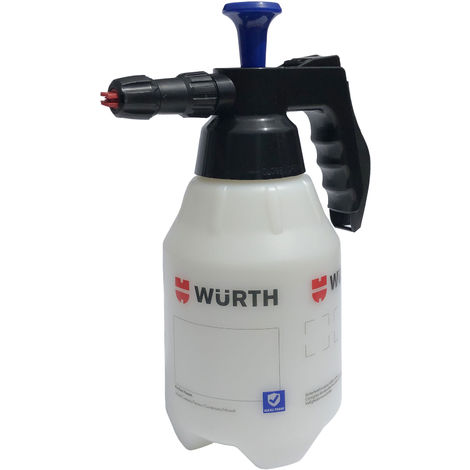 Würth Schaum Pumpsprühflasche 1,5 Liter Drucksprüher Pumpflasche Handsprüher Pumpsprüher Reinigungssprüher Schaumpistole