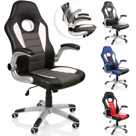 TRESKO® Racing Chefsessel Bürostuhl Drehstuhl Sportsitz Bürosessel Schreibtischstuhl